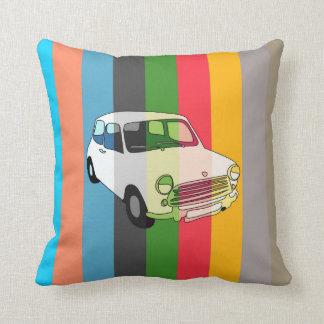 Retro Striped Classic Car Cushion Pillow