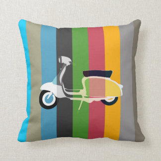 Retro Striped Classic Scooter Cushion Pillow
