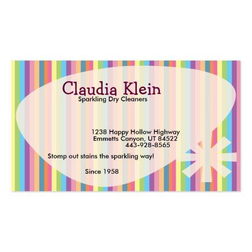 Retro Stripes Business card