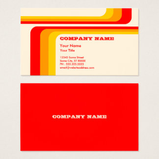 retro stripes business card