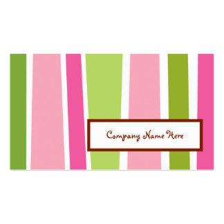 retro stripes business cards