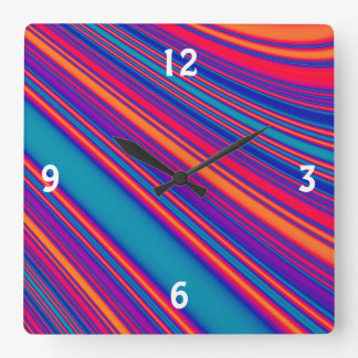 Retro Stripes Clock