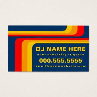 retro stripes dj business card