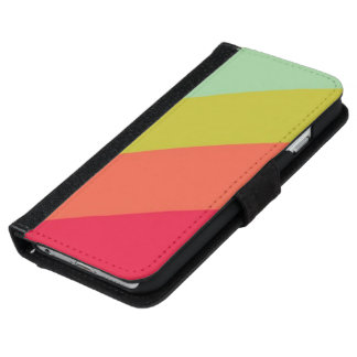 Retro Stripes iPhone 6 Wallet Case
