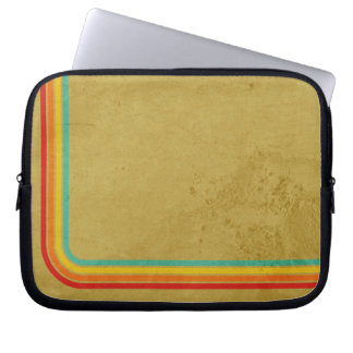 Retro Stripes On A Grunge Background Laptop Sleeves