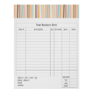 Retro Stripes Order Form 21.5 Cm X 28 Cm Flyer