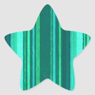 Retro Stripes Teal Green Turquoise Grunge Star Stickers