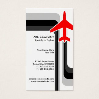 retro stripes travel business card