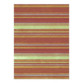 Retro Stripes Yellow Rust Stripe Invitations