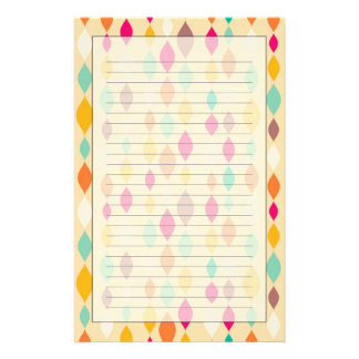 Retro style abstract pattern stationery