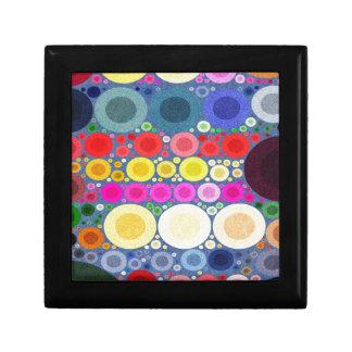 Retro Style Abstract Textured Polka-Dots Keepsake Boxes