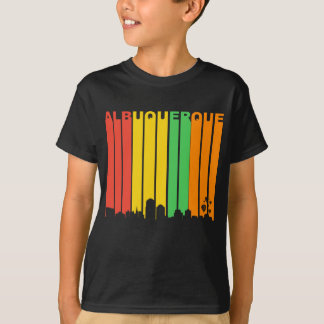 Retro Style Albuquerque NM Skyline T-Shirt