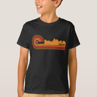 Retro Style Arlington Virginia Skyline T-Shirt