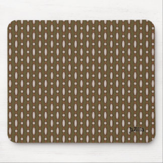 Retro Style Beaded Curtain Khaki Mouse Pad