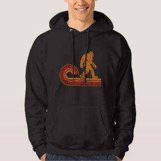 Retro Style Bigfoot Silhouette Sasquatch Hoodie