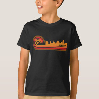 Retro Style Binghamton New York Skyline T-Shirt