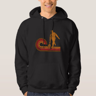 Retro Style Bowler Silhouette Bowling Hoodie