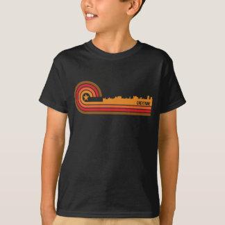 Retro Style Cheyenne Wyoming Skyline T-Shirt