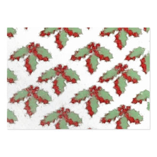 Retro Style Christmas Holly Pack Of Chubby Business Cards