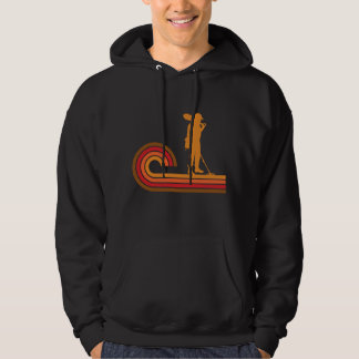 Retro Style Coinshooter Silhouette Metal Detecting Hoodie