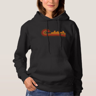 Retro Style Fort Worth Texas Skyline Hoodie