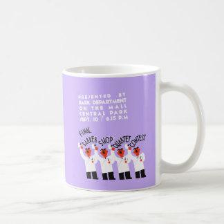 Retro style funny barber shop quartet song contest coffee mug