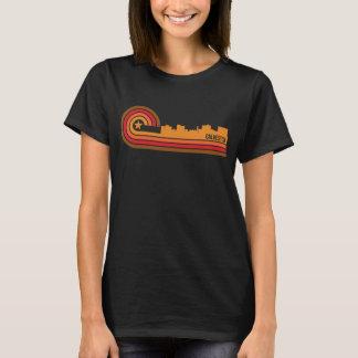 Retro Style Galveston Texas Skyline T-Shirt
