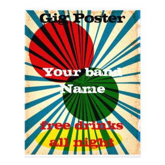 Retro Style grunge poster 21.5 Cm X 28 Cm Flyer