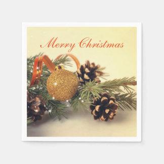 Retro Style Holiday Decorations Paper Napkin