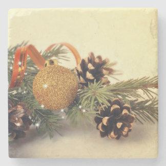 Retro Style Holiday Decorations Stone Coaster