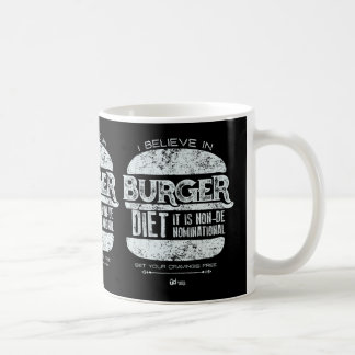 Retro Style: I Believe in Burger Diet Coffee Mug