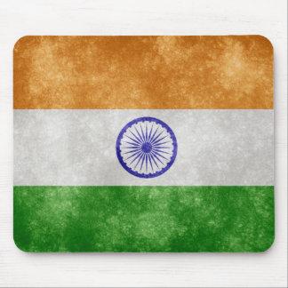 Retro style India Flag mouse pad