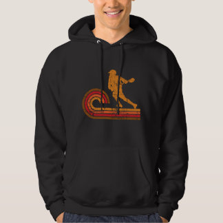 Retro Style Lacrosse Player Silhouette Sports Hoodie