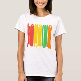 Retro Style Lansing MI Skyline T-Shirt