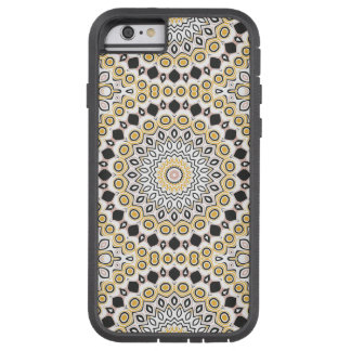 Retro Style Mustard Yellow and Black Medallion Tough Xtreme iPhone 6 Case