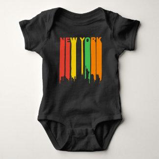 Retro Style New York City Skyline Baby Bodysuit