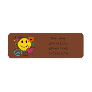 Retro Style - Personalize Return Address Label