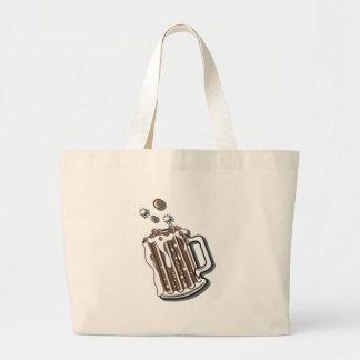 retro style root beer graphic jumbo tote bag