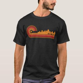 Retro Style Salt Lake City Utah Skyline T-Shirt