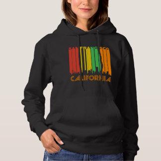 Retro Style San Francisco CA Skyline Hoodie