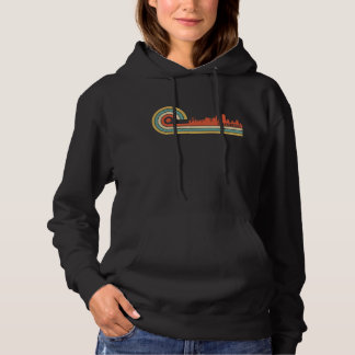 Retro Style San Francisco California Skyline Hoodie