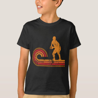 Retro Style Scrum Half Silhouette Rugby T-Shirt