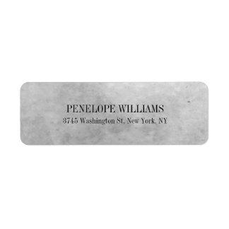 Retro Style Simple Elegant Modern Grey Return Address Label
