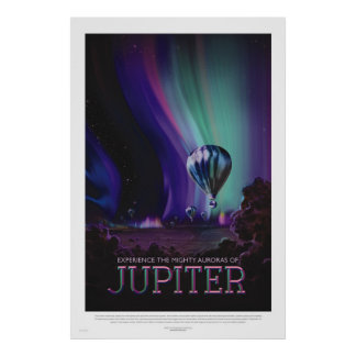 Retro Style Space Travel Poster - Jupiter
