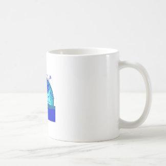 Retro Style Sunset with Hibiscus Coffee Mugs