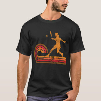 Retro Style Tennis Player Silhouette Sports T-Shirt