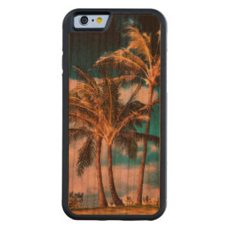 Retro Style Tropical Island Palm Trees Carved® Cherry iPhone 6 Bumper
