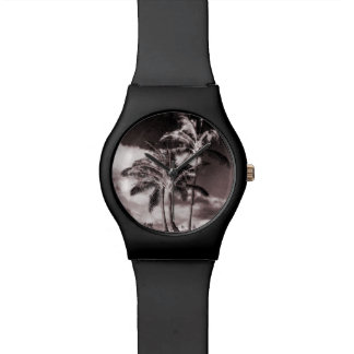 Retro Style Tropical Island Palm Trees Watch