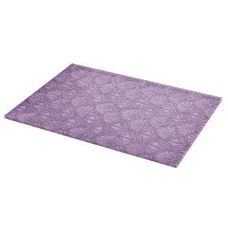 Retro Style Vintage Lavender Purple Seashells Cutting Board