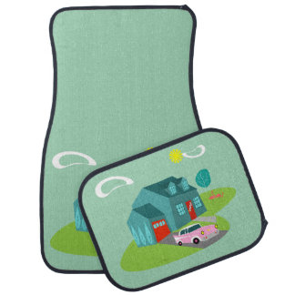 Retro Suburban House Car Mats